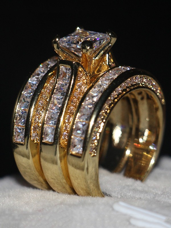Gorgeous Copper With Zircon Hot Sale Rings