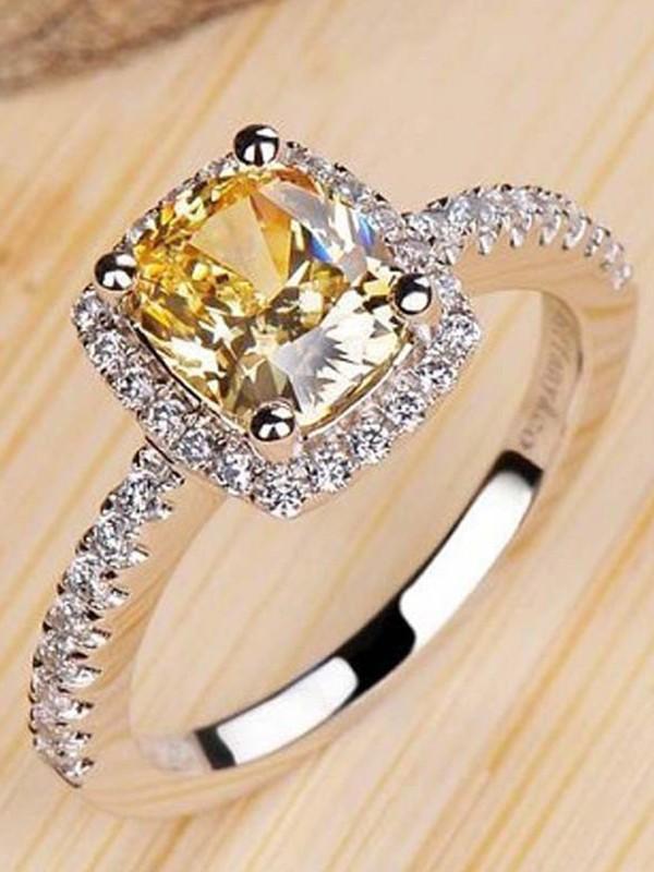 Elegant Copper With Zircon Hot Sale Wedding Rings