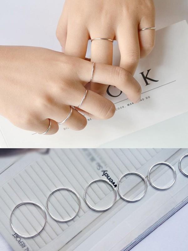 Simple 925 Sterling Silver Hot Sale Rings