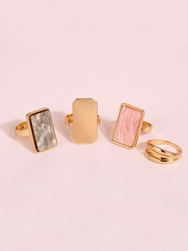 Fancy Four Pieces Alloy Hot Sale Rings