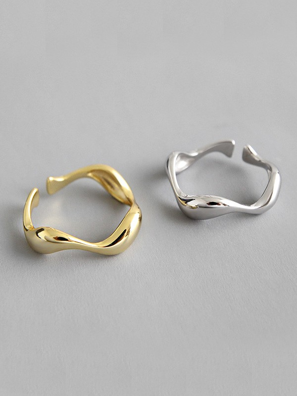 Simple S925 Silver Hot Sale Adjustable Rings
