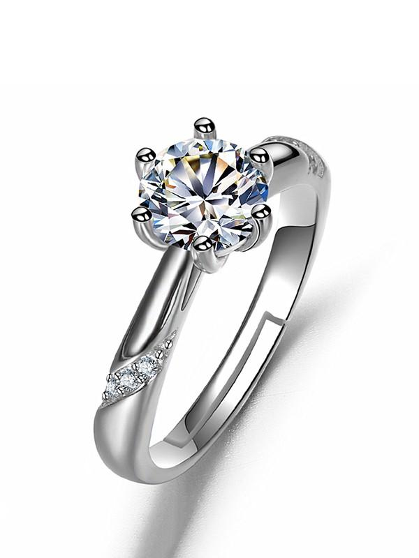 Elegant Copper With Rhinestone Adjustable Wedding Rings