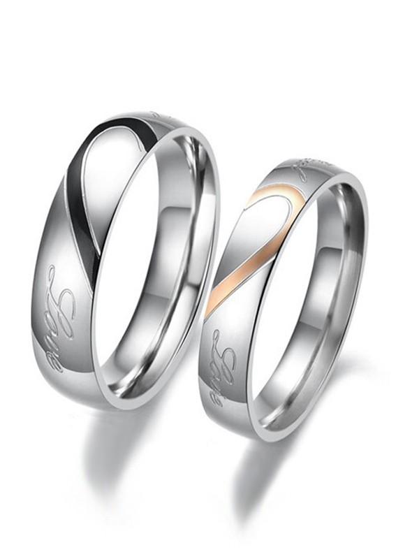 Unique Titanium Hot Sale Couple Rings