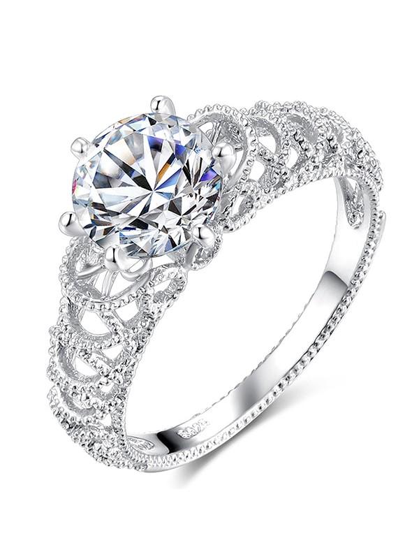 Pretty Copper With Rhinestone Hot Sale Wedding Rings