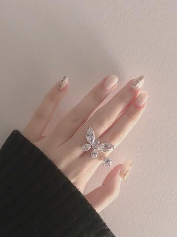 Charming Alloy With Butterfly Hot Sale Adjustable Rings