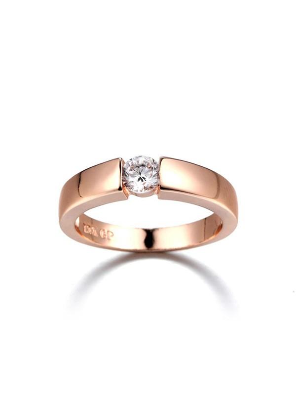 Pretty Copper With Zircon Hot Sale Wedding Rings
