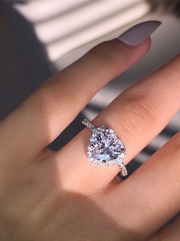Trending Copper With Rhinestone Hot Sale Wedding Rings