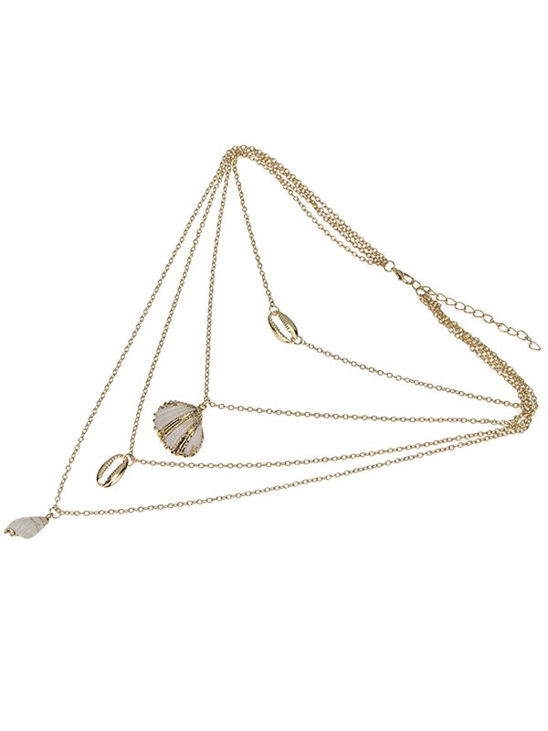 Elegant Alloy With Shell Women's Necklaces