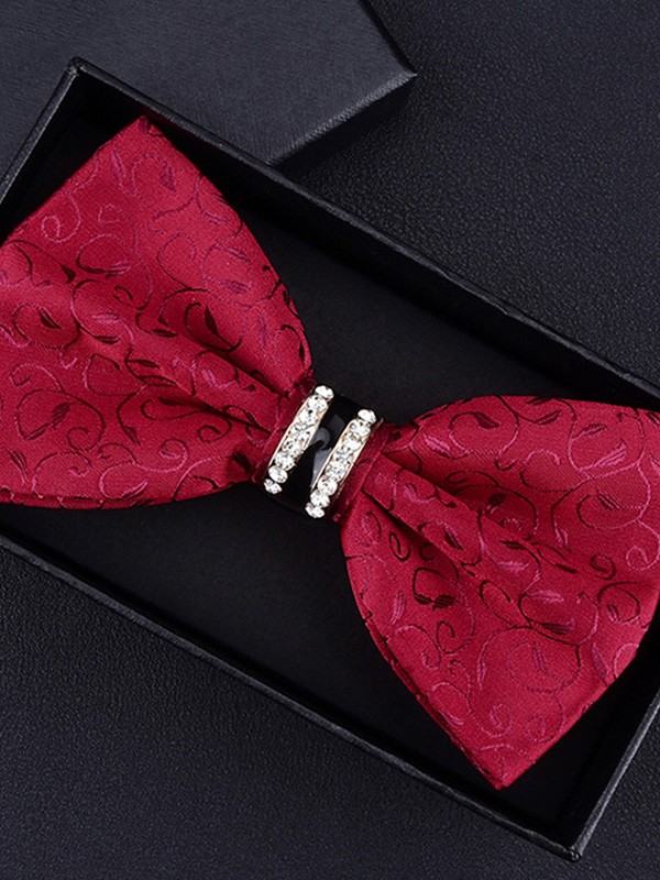 Formal Floral Polyester Bow Tie