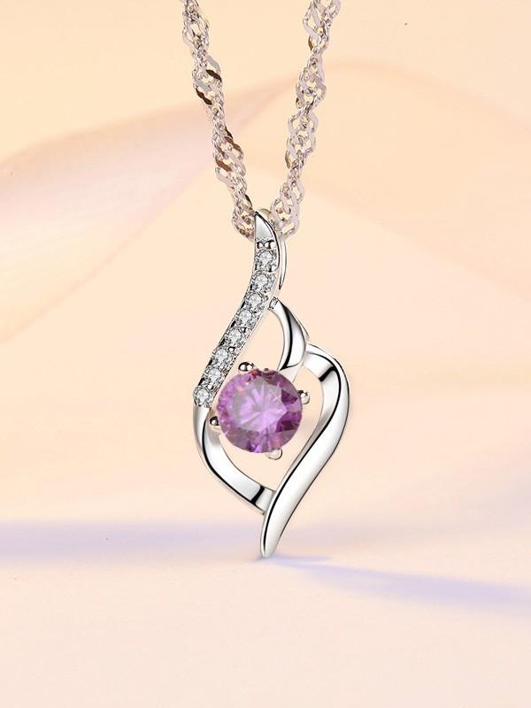Korean Brilliant S925 Silver With Zircon Necklaces For Ladies