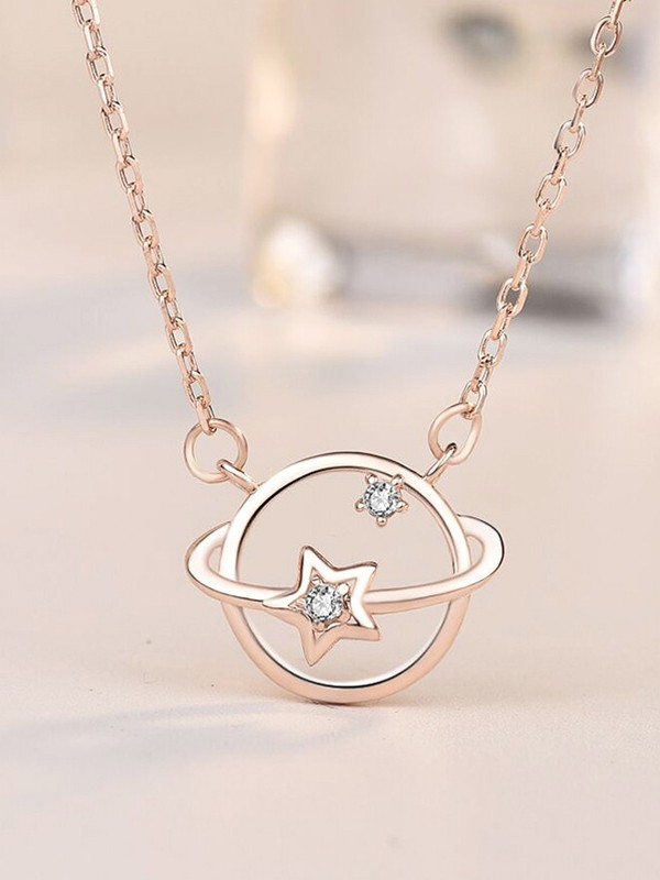 Beautiful S925 Silver With Zircon Necklaces For Women