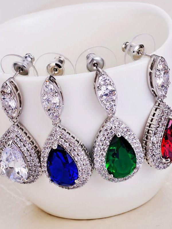 Beautiful Copper With Zircon Hot Sale Earrings