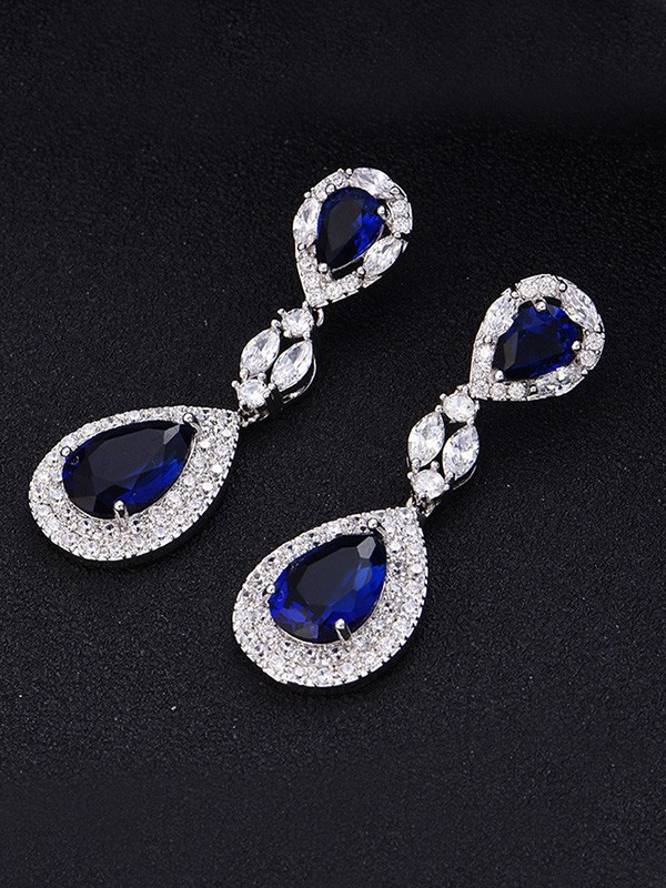 Elegant Copper With Crystal Hot Sale Earrings