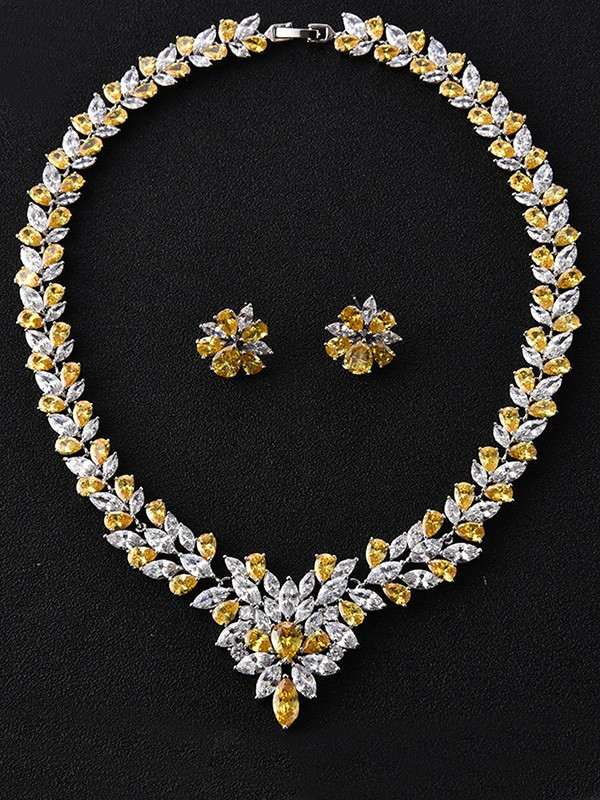 Trending Copper With Zircon Hot Sale Jewelry Set