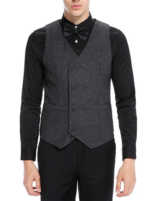 Formal Cotton Men's Vest/Waistcoat