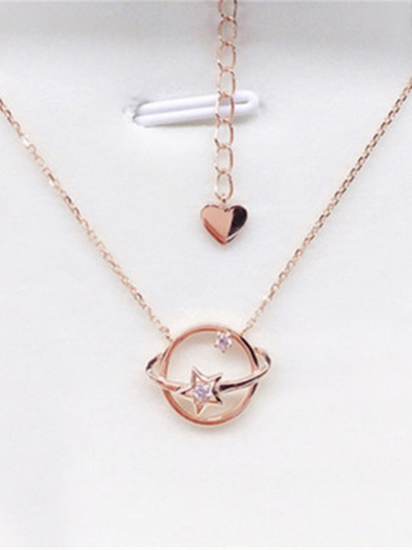Fashion 925 Sterling Silver Necklaces With Universe