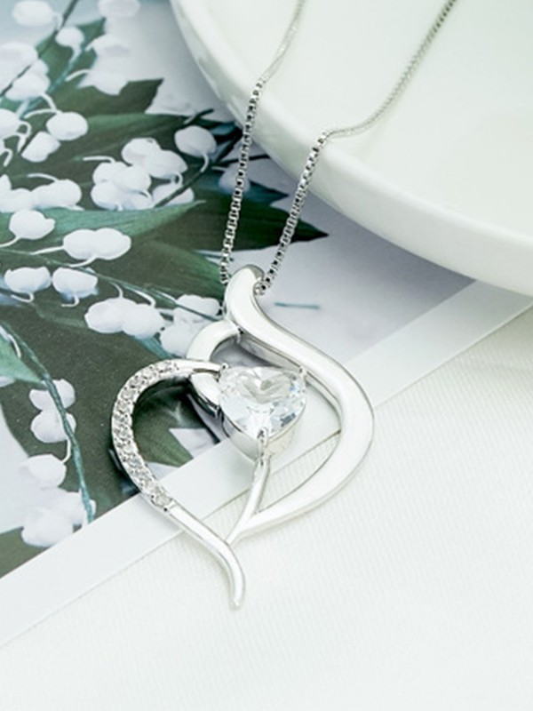 Classic Titanium With Zircon Hot Sale Necklaces