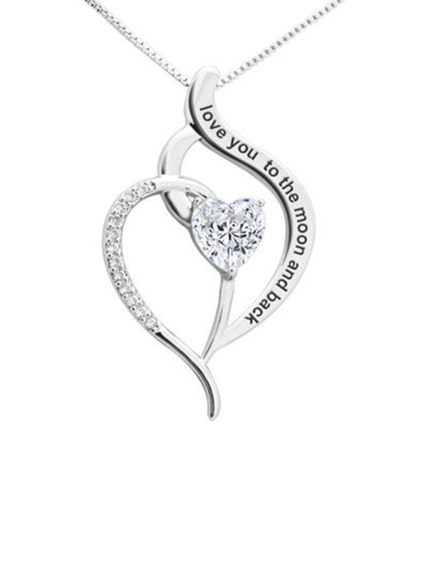 Graceful Titanium With Zircon Necklaces For Ladies