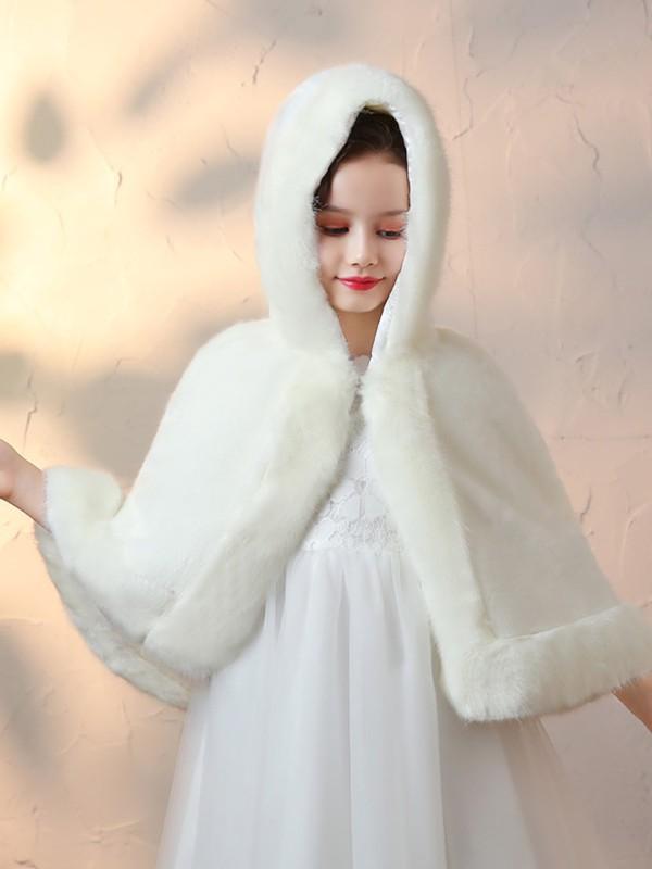 Comfy Faux Fur Flower Girl Wraps