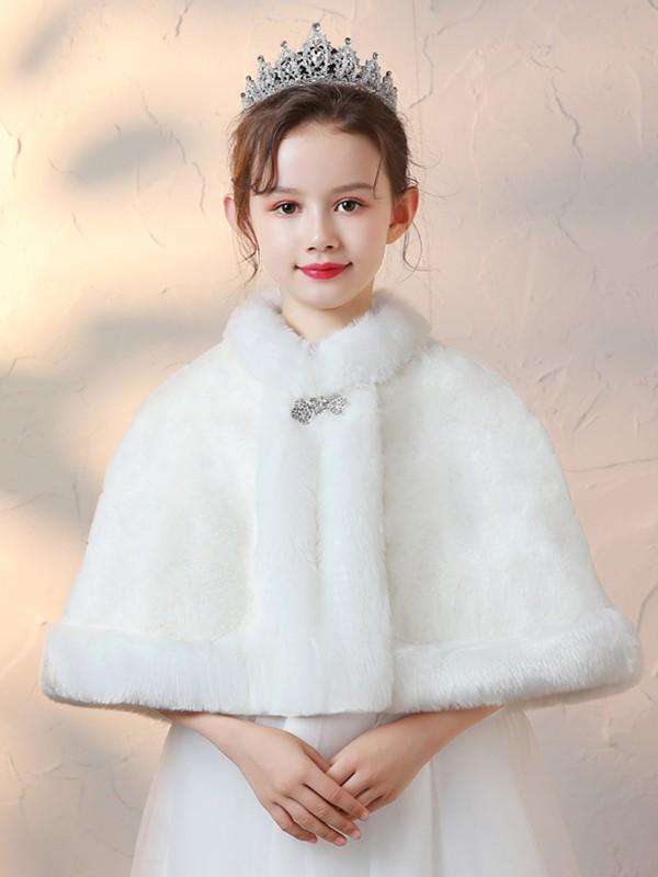 Fancy Faux Fur With Rhinestone Wraps