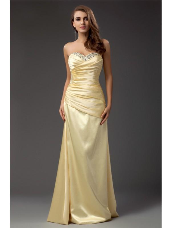 Treasured Reveries Sheath Style Sweetheart Long Taffeta Dresses