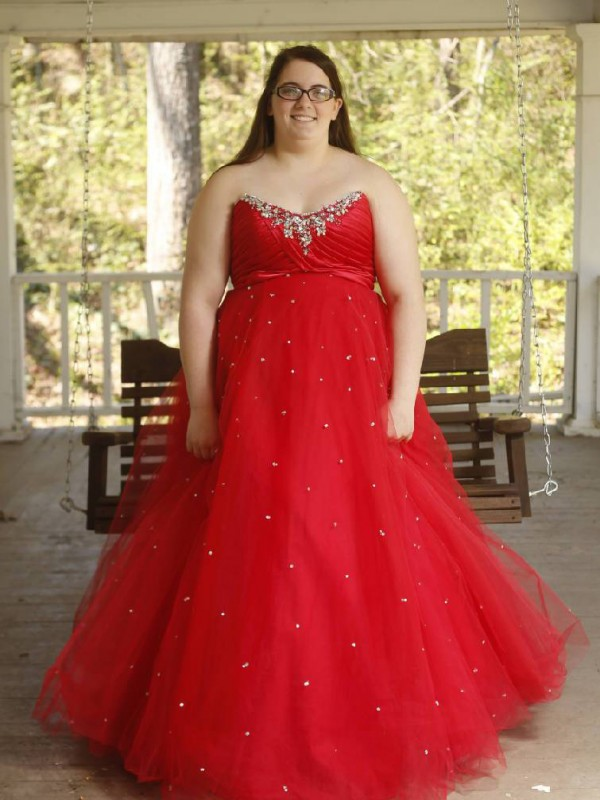 Memorable Magic Ball Gown Sweetheart With Beading Floor-Length Organza Plus Size Dresses