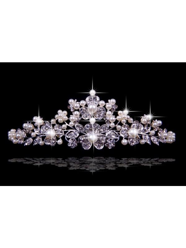 Nice Czech Rhinestones Flower Pearls Wedding Headpieces