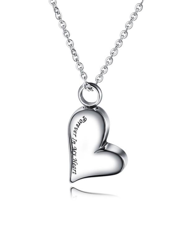 Chic Titanium With Love Necklaces For Ladies