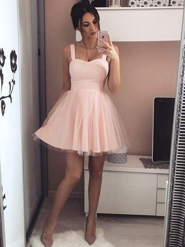 Savor the Occasion Princess Style Satin Straps With Ruched Short/Mini Dresses