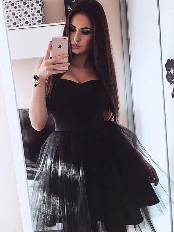 Dancing Queen Princess Style Satin Strapless Short/Mini Dresses