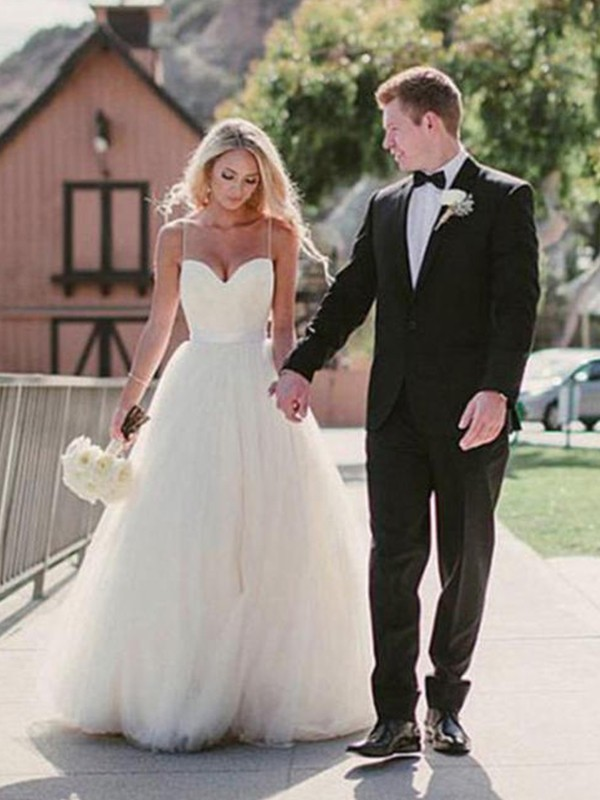 Memorable Magic Ball Gown Sweetheart Sweep/Brush Train Tulle Wedding Dresses