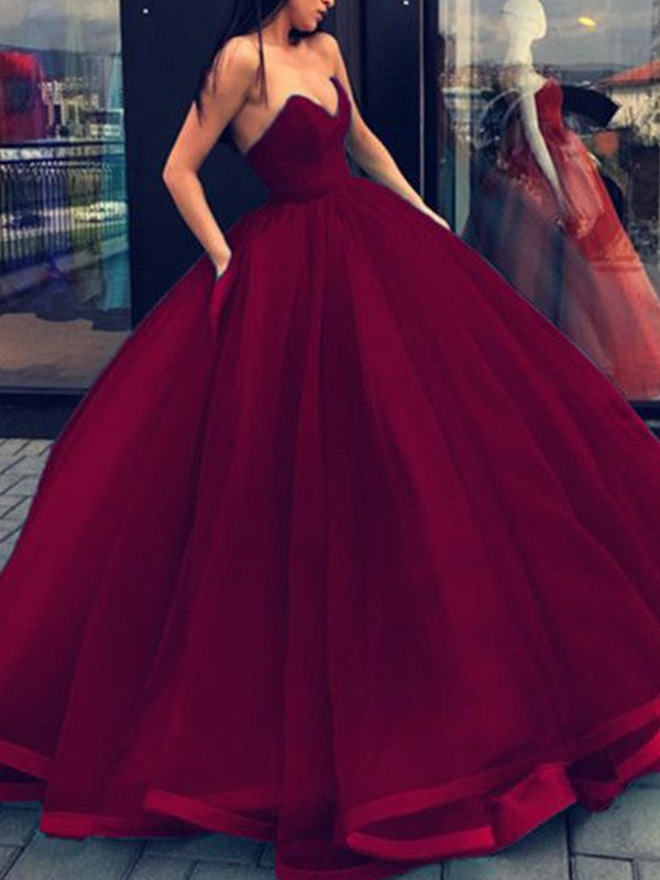 Styled to Smile Ball Gown Sweetheart Organza Floor-Length Dresses