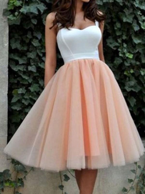 Memorable Magic Princess Style Sweetheart Tulle Knee-Length Dresses