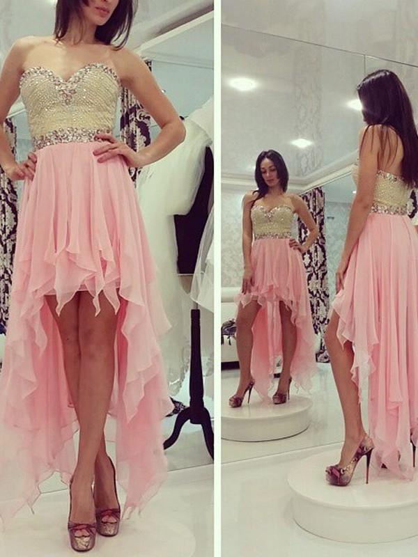 First Impressions Princess Style Sweetheart Beading Chiffon Asymmetrical Dresses