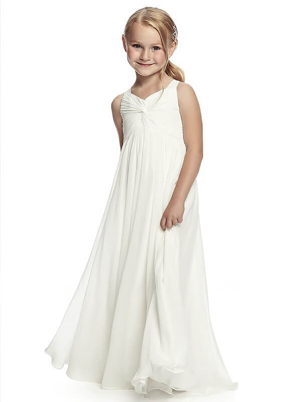 Pleasant Emphasis Princess Style Straps Ruched Floor-Length Chiffon Flower Girl Dresses