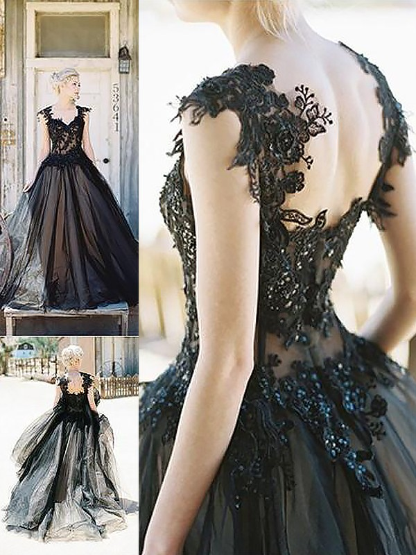 Confident Option Ball Gown Sweetheart With Lace Sweep/Brush Train Tulle Dresses