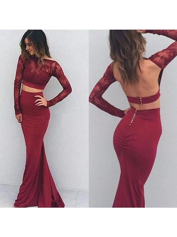 Festive Self Mermaid Style Bateau Spandex Floor-Length Dresses