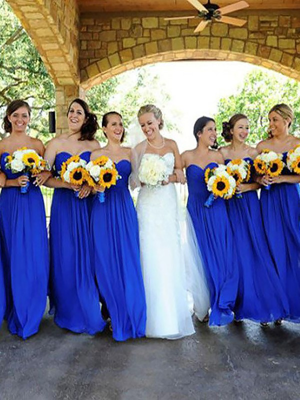 Chic Chic London Princess Style Floor-Length Sweetheart Chiffon Bridesmaid Dresses