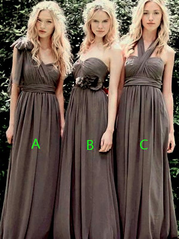 Savor the Occasion Princess Style Chiffon Floor-Length Bridesmaid Dresses