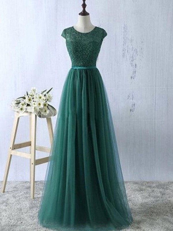Fabulous Fit Princess Style Scoop Tulle Floor-Length Dresses