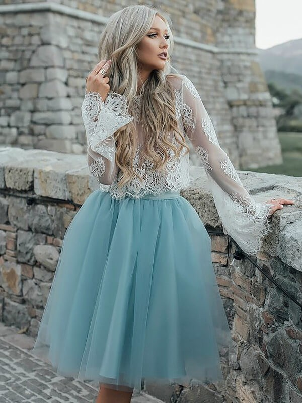 Easily Adored Princess Style Scoop Short/Mini Tulle Dresses