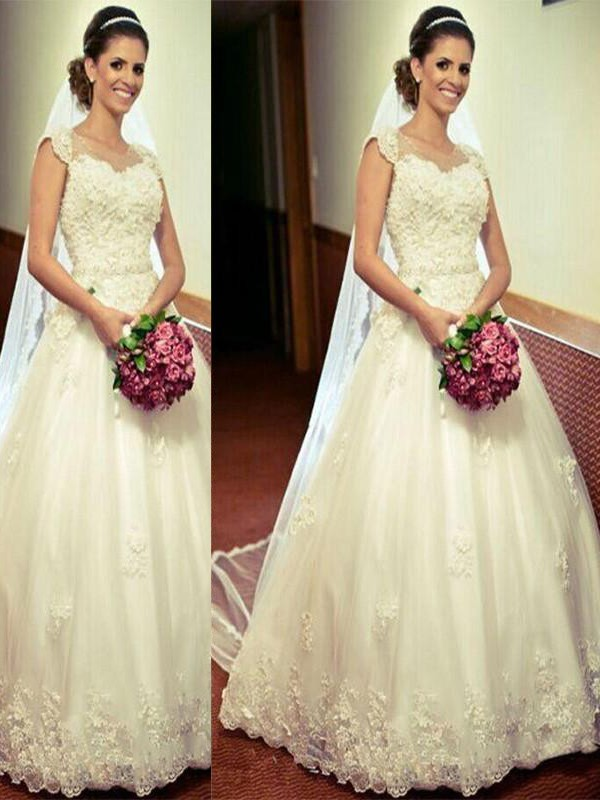 Touch of Texture Ball Gown Tulle Floor-Length Sweetheart Wedding Dresses