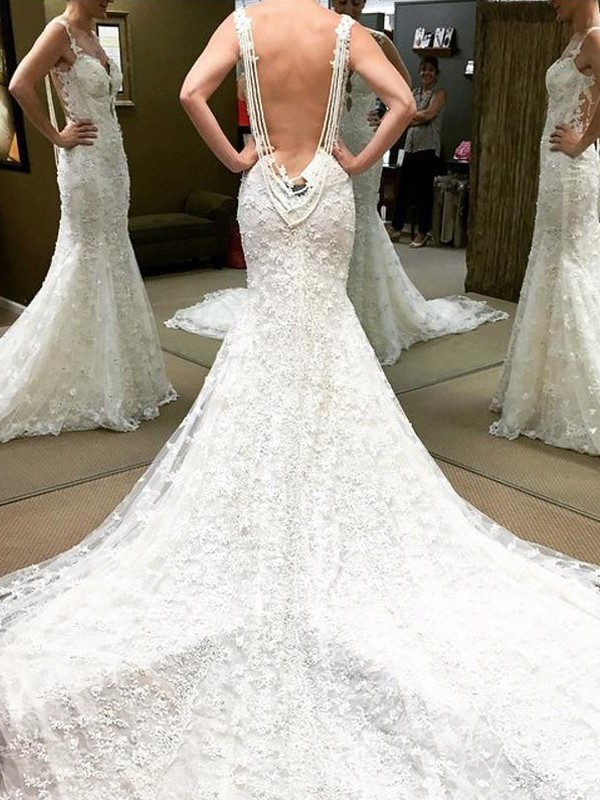 Glitz the Spot Ball Gown Floor-Length Off-the-Shoulder Lace Wedding Dresses