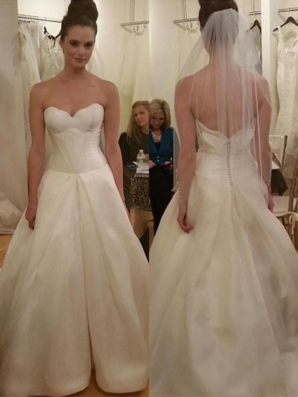 Lively Identity Ball Gown Taffeta Sweetheart Court Train Wedding Dresses