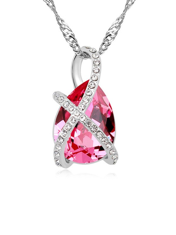 Gorgeous Alloy With Crystal Necklaces For Ladies