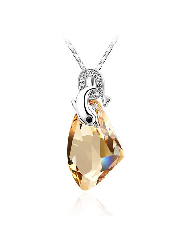 Graceful Alloy With Crystal Necklaces For Women