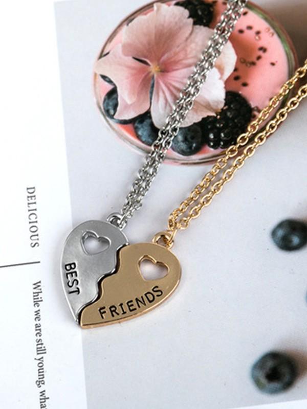 Brilliant Alloy Hot Sale Necklaces For Best Friends