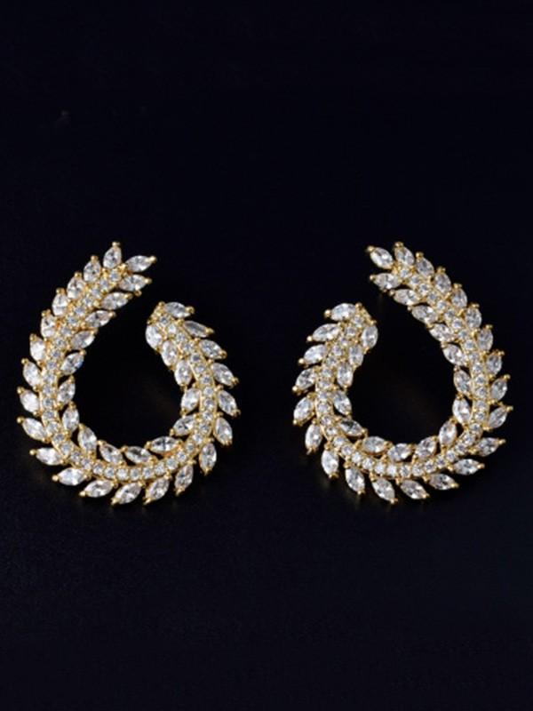 Fashion Copper With Zircon Hot Sale Earrings