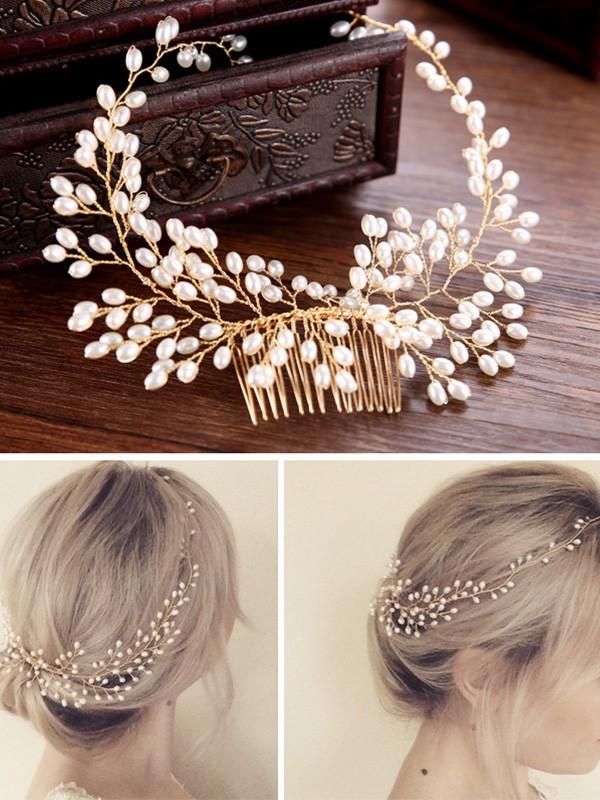 Pretty Czech Pearl Headpieces
