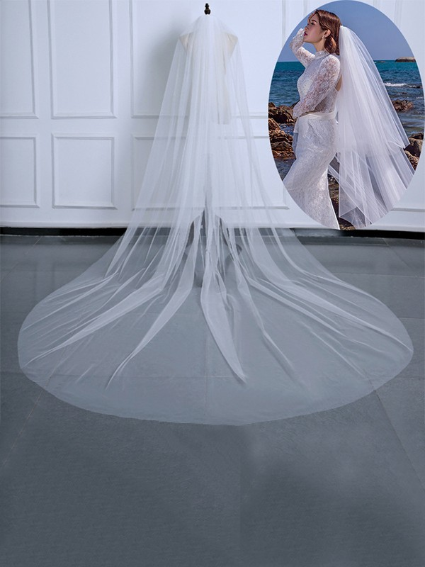 Pretty Tulle Long Wedding Veils
